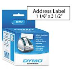 "Address Labels 1-18"" x 3-12"" White Box of 700 (DYM30252)"