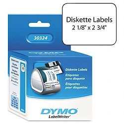 "Diskette Labels 2-34"" x 2-18"" White Box of 320 (DYM30324)"