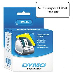 "Multipurpose Labels 1"" x 2 18"" White Box of 500 (DYM30336)"