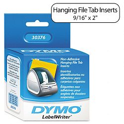 "Hanging File Folder Tab Inserts 916 x 2"" White Box 260 (DYM30376)"