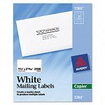 "Self-Adhesive Address Labels for Copiers 1-12"" x 2-1316"" White Box of 2100 (AVE5360)"