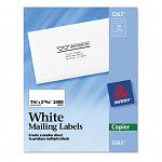 "Self-Adhesive Address Labels for Copiers 1-38"" x 2-1316"" White Box of 2400 (AVE5363)"