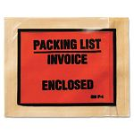 "Non-Printed Self-Adhesive Packing List Envelope 4 12"" x 5 12"" White Box of 1000 (MMMF11000)"