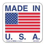 """Made in USA"" Self-Adhesive Shipping Labels 1"" x 1"" Roll of 500 (UNV307538)"