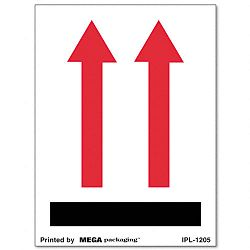 "Red Arrows Self-Adhesive Shipping Labels 3"" x 4"" Roll of 500 (UNV312483)"
