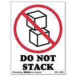 """Do Not Stack"" Self-Adhesive Shipping Labels 3"" x 4"" Roll of 500 (UNV312487)"