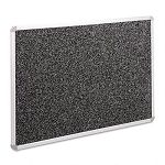 "Recycled Rubber-Tak Tackboard 48"" x 36"" Black with Aluminum Frame (BLTBRT12400)"