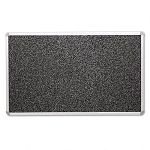 "Recycled Rubber-Tak Tackboard 96"" x 48"" Black with Aluminum Frame (BLTBRT13002)"