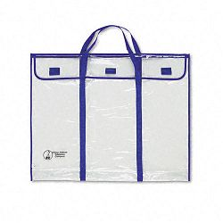 "Bulletin Board Storage Bag Blue;Clear 30"" x 24"" (CDPCD5638)"