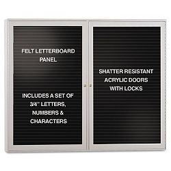 "Enclosed Letterboard 48"" x 36"" (GHEPA23648BBK)"