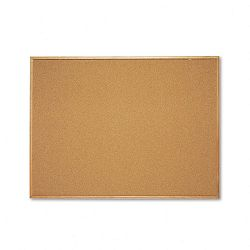 "Cork Bulletin Board Cork Over Fiberboard 48"" x 36"" Natural Oak Frame (QRT304)"