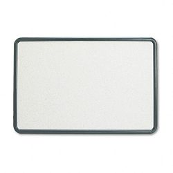 "Contour Granite-Finish Tack Board 36"" x 24"" Black Frame (QRT699370)"