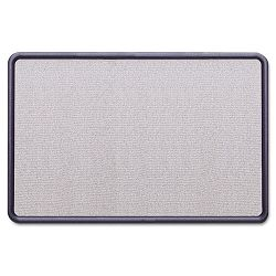 "Contour Fabric Bulletin Board 36"" x 24"" Light Blue Plastic Navy Blue Frame (QRT7693BE)"