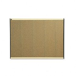 "Prestige Bulletin Board Graphite-Blend Cork 48"" x 36"" Maple Frame (QRTB244MA)"