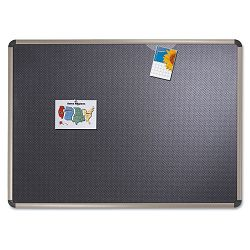 "Euro-Style Bulletin Board High-Density Foam 48"" x 36"" BlackAluminum Frame (QRTB364T)"
