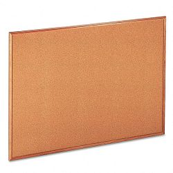 "Cork Bulletin Board 48"" x 36"" Natural Oak Frame (UNV43604)"