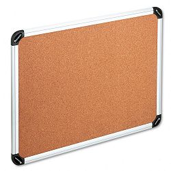 "Bulletin Board Natural Cork 24"" x 18"" Aluminum Frame (UNV43712)"