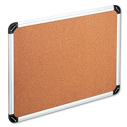 "Bulletin Board Natural Cork 48"" x 36"" Aluminum Frame (UNV43714)"