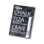 Alpha Nontoxic Low Dust Chalk White 12 SticksPack (QRT314005)