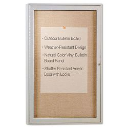"Enclosed Outdoor Bulletin Board 36"" x 24"" Satin Finish (GHEPA13624VX181)"