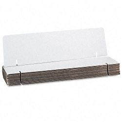"Spotlight Corrugated Presentation Headers Display 36"" x 9 12"" White Carton of 24 (PAC3761)"