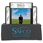 "Economy Tabletop Exhibit 61"" x 14"" x 41"" Black (SAF2333BL)"