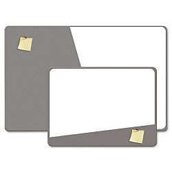 "Combination Magnetic Dry Erase & Foam Board 36"" x 24"" Gray (BDU18020UA1)"