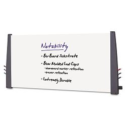 "Notability Dry Erase Board Resin End Caps 72"" x 36"" Charcoal Finish (ICE37567)"