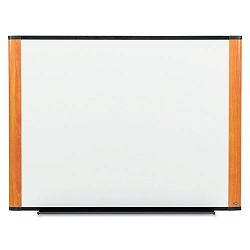 "Melamine Dry Erase Board 48"" x 36"" Light Cherry Frame (MMMM4836LC)"