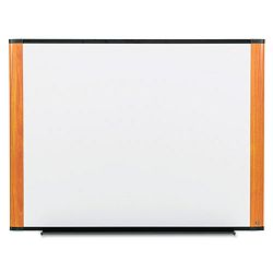 "Melamine Dry Erase Board 72"" x 48"" Light Cherry Frame (MMMM7248LC)"