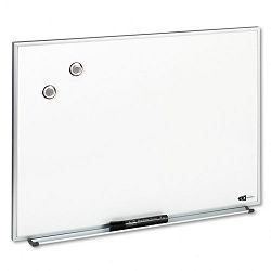 "Magnetic Dry Erase Board Painted Steel 23"" x 16"" White Aluminum Frame (QRTM2316)"