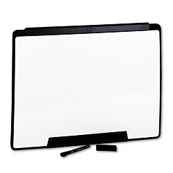 "Motion Portable Dry Erase Board 24"" x 18"" White Black Frame (QRTMMP25)"