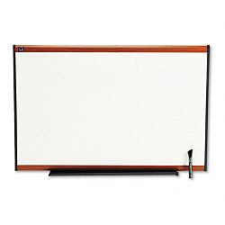 "Total Dry Erase Board 36"" x 24"" White Cherry Frame (QRTTE543LC)"