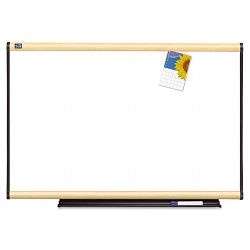 "Total Dry Erase Board 36"" x 24"" White Maple Frame (QRTTE543MA)"