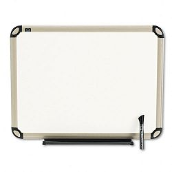 "Total Dry Erase Board 24"" x 18"" White Euro-Style Aluminum Frame (QRTTE561T)"
