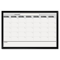 "Magnetic Dry Erase Board 35"" x 23"" BlackWhite Calendar with Black-Painted Frame (BDU17006BDVA)"