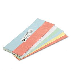 "Data Cards for Magnetic Card Holders 2"" x 1"" Assorted Colors 1000Pack (MAVDC202M)"