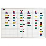 "Lustreboard Planning Kit Porcelain-on-Steel 36"" x 24"" WhiteAluminum (MAVEBK2436)"