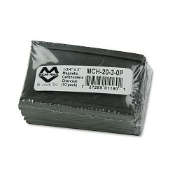 "Magnetic Card Holders 3"" x 1 34"" Charcoal Pack of 10 (MAVMCH2030P)"