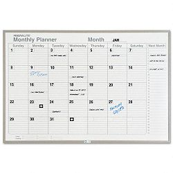 "Monthly Planning Board Porcelain-on-Steel 36"" x 24"" Gray (MAVML231)"