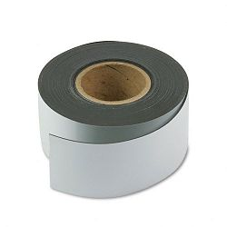 "Magnetic Write-OnWipe-Off Strips 3"" x 50 ft Roll White (MAVMR50241P)"