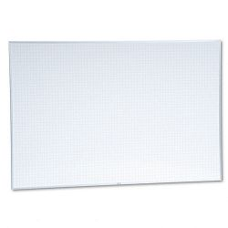 "Planning Board 1"" x 1"" Grid Porcelain-on-Steel 72"" x 48"" BlueWhite (MAVPBFG8)"