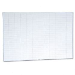 "Planning Board 2"" x 3"" Grid Porcelain-on-Steel 72"" x 48"" BlueWhite (MAVPBFGL8)"