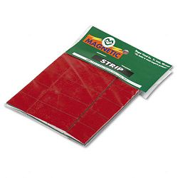 "Magnetic Write-OnWipe-Off Pre-Cut Strips 2"" x 78"" Red Pack of 25 (MAVPMR723)"