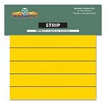 "Magnetic Write-OnWipe-Off Pre-Cut Strips 6"" x 78"" Yellow Pack of 25 (MAVPMR762)"