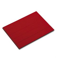"Magnetic Write-OnWipe-Off Pre-Cut Strips 6"" x 78"" Red Pack of 25 (MAVPMR763)"