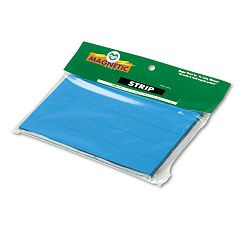 "Magnetic Write-OnWipe-Off Pre-Cut Strips 6"" x 78"" Blue Pack of 25 (MAVPMR765)"