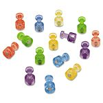 Magnetic Push Pins for Magnetic Planning Boards Assorted Colors Pack of 20 (QRTMPPC)