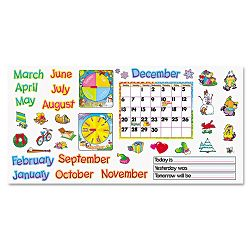 "Monthly Calendar (with Cling) Bulletin Board Set 22"" x 17"" (TEPT8302)"