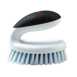 "Household Scrub Brush with Egg-Shaped Handle 5"" x 3 ""x 4"" WhiteBlack Handle (OXO33881)"